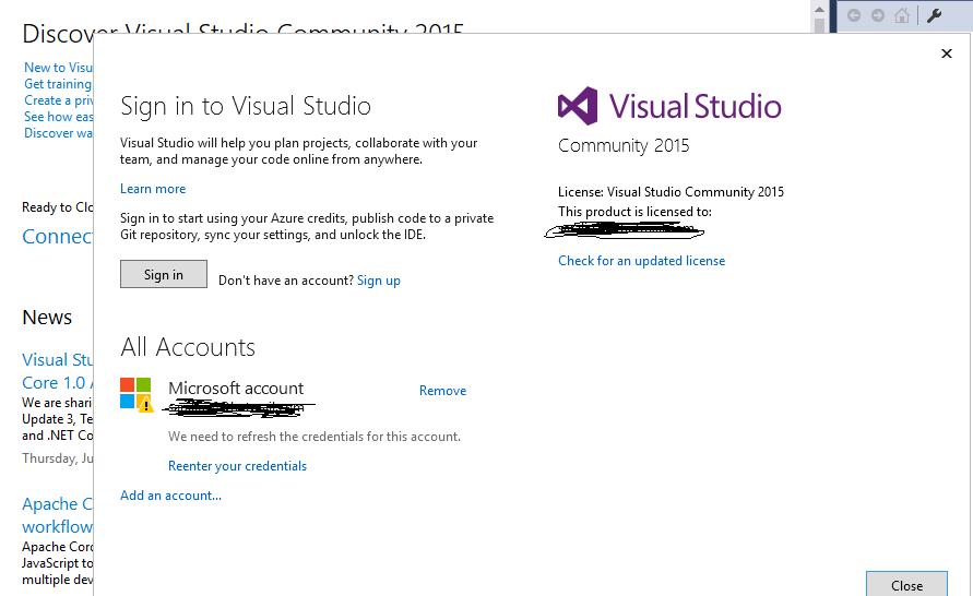 visual studio community 2013 download link