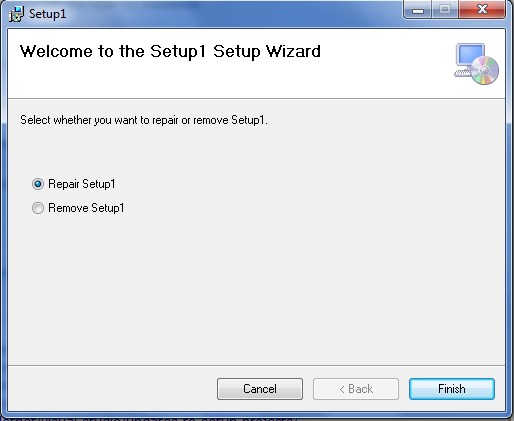 my setup exe project isnt updated after changing my project code andthe second time when we execute a setup ( msi) file, the setup wizard display please delete the setup exe and msi file before you rebuild the setup