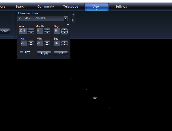 WWT Jupiter's moons position August 18th