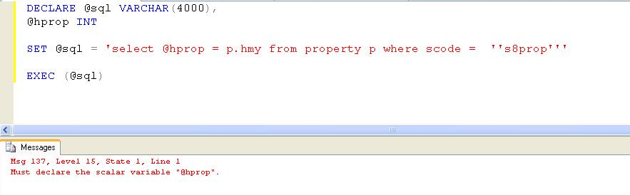 sql procedure query apparent to respective
