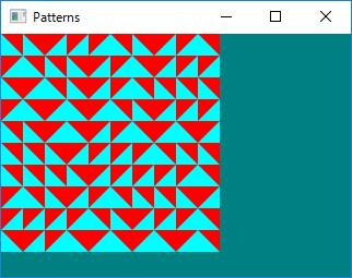 Screen shot of a program Patterns