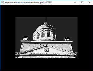 Screen shot of a program Monochrome 0.1