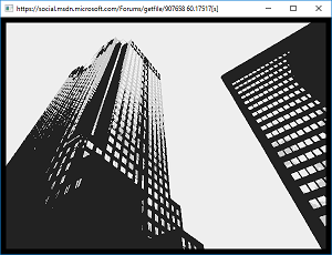 Screen shot of a program Monochrome 0.1 (little updated to measure time)