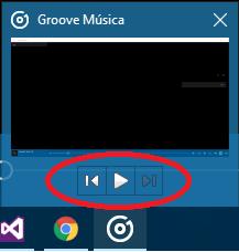 Menu de GrooveMúsica en Windows10