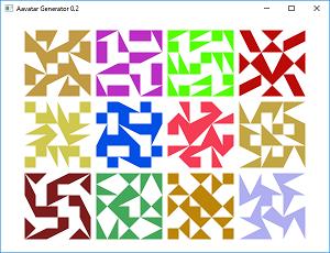 Screen shot of a program Avatar Generator 0.2