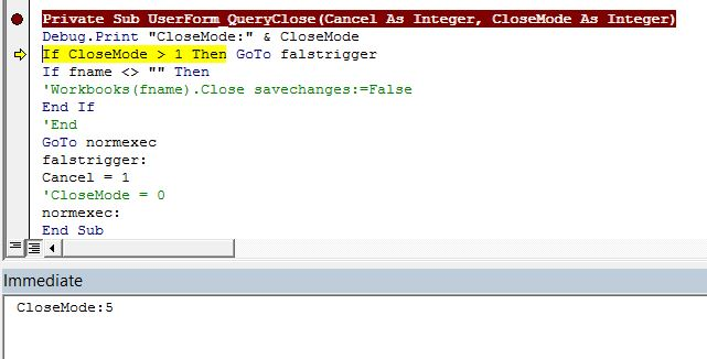 Queryclose event triggers when activeworkbookose command specially this happens in excel 2013 vba 71 and not in excel 2010 vba 70 i think that this issue maybe is caused by that excel 2013 is now an sdi ibookread Download