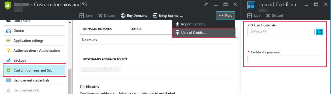 Web Apps How To Install A T Or P7b Ssl Certificate On A Web App