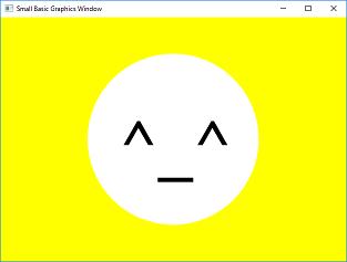 Screen shot of a program Face
