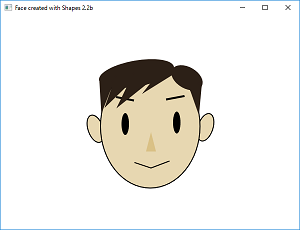 Screen shot of a program Face created with Shapes 2.2b
