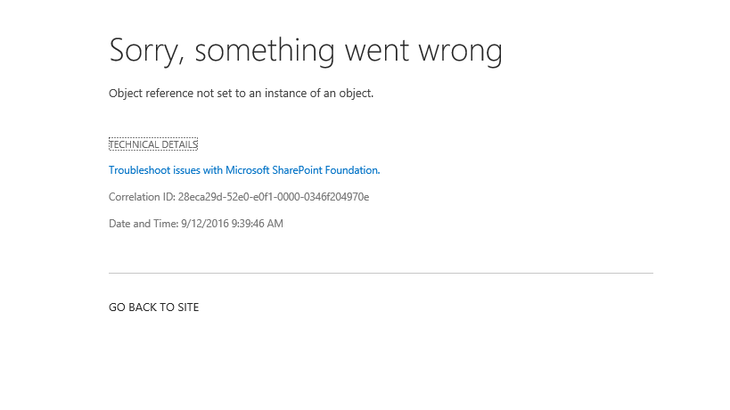 error while creating site collection from sharepoint 2013 central admin