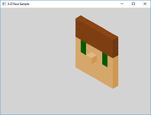 Screen shot of a program 3-D Face Sample