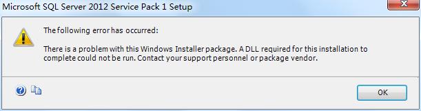 SQL Server 2012 express install failed