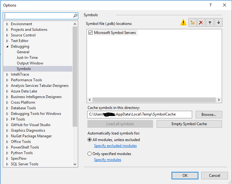 VS 2015 & MYSQL Workbench - Each connection needs symbol
