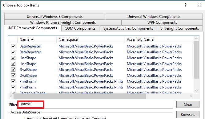 Visual Studio community powerpack 12 isn't being found