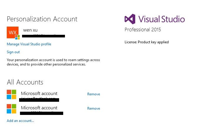 visual studio 2015 enterprise license key