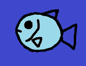 Freehand picture of a fish