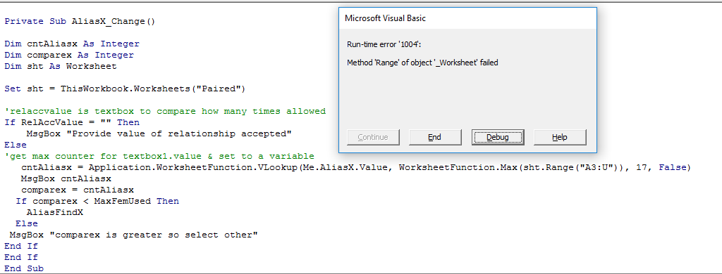 VBA: Vlookup textbox value in sheet and return Max value ...