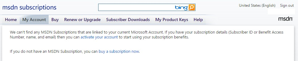 microsoft msdn subscribers download