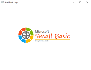 Screen shot of a program Small Basic Logo