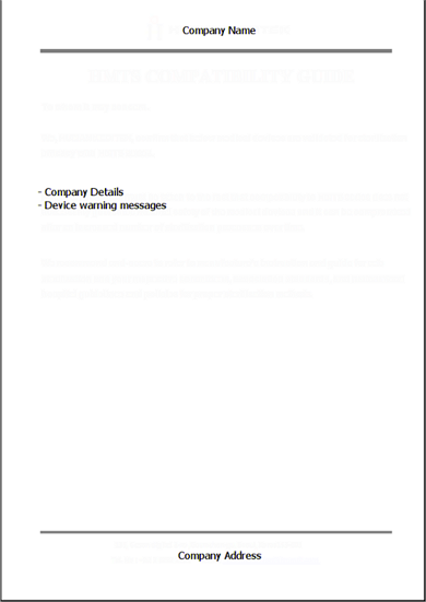 report cover sheet