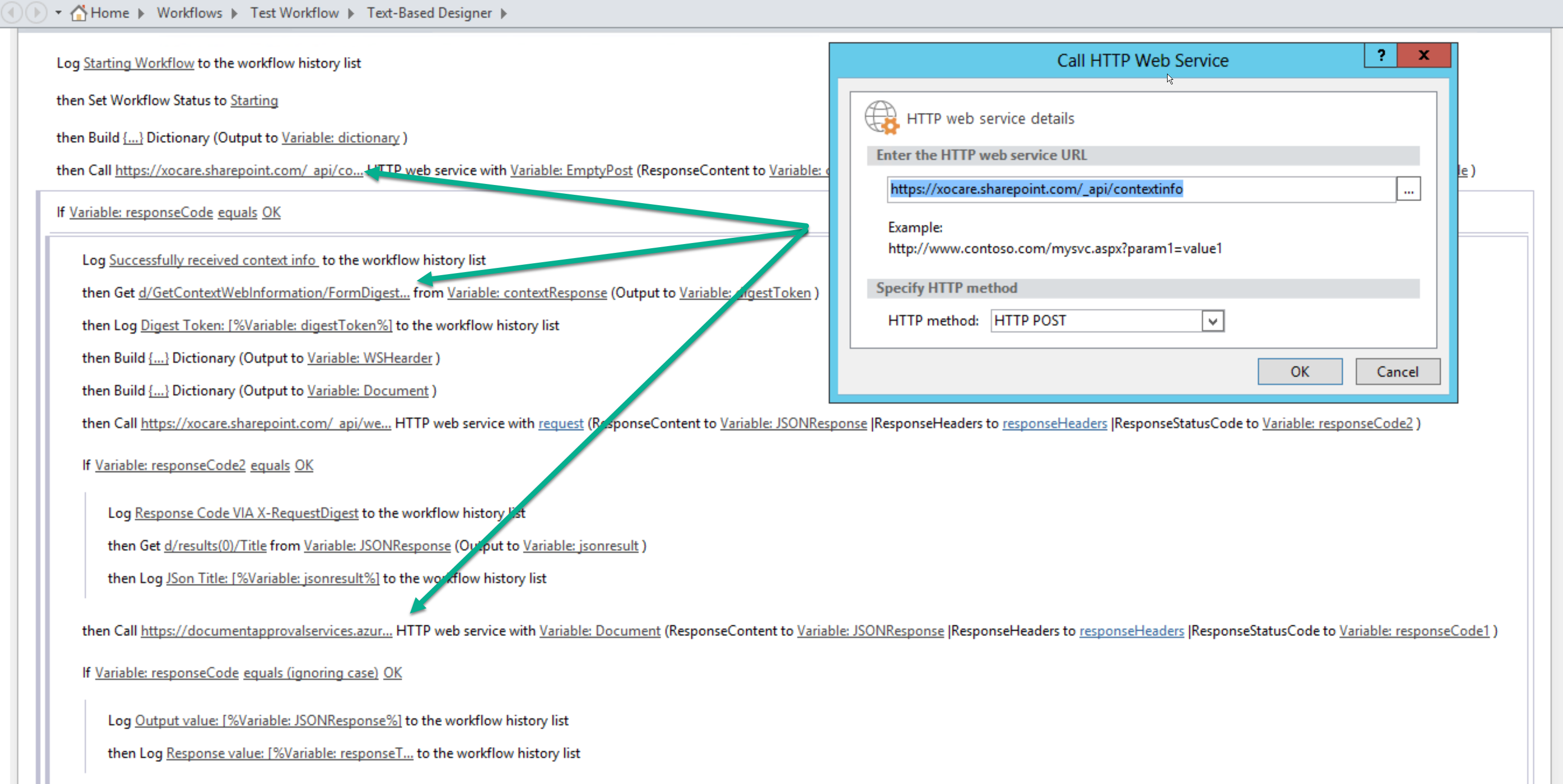 Passing Security Token Further From Sharepoint Designer Workflow To Custom Web Service