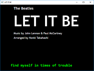 Screen shot of a program Let It Be