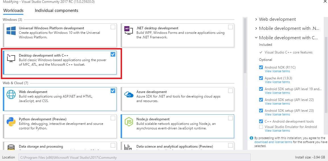 npm windows-build-tools could not install visual studio build tools