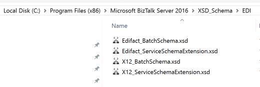Where are the BizTalk 2016 EDI schemas?
