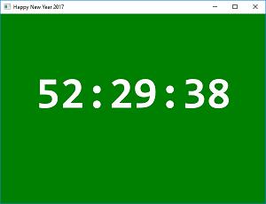 Screen shot of a program Happy New Year 2017