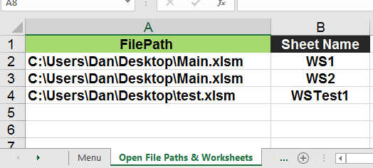 VBA - Open File Path Destination & Worksheet Name on Cell Selection