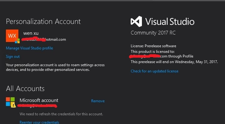 install visual studio 2017 with product key
