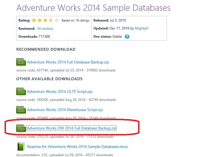 adventure works dw 2014 free download