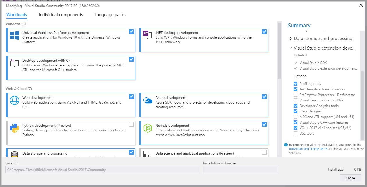 office tools for visual studio  no office or sharepoint projects showup even when search for project templates below are the screenshots