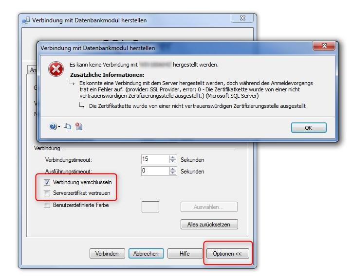 Zertifikatkette nicht von autorisierter Zertifizierungsstelle ...