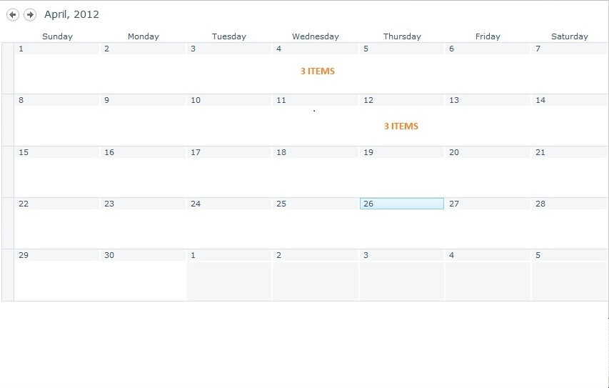 Display Events from a SharePoint Calendar Using jQuery and