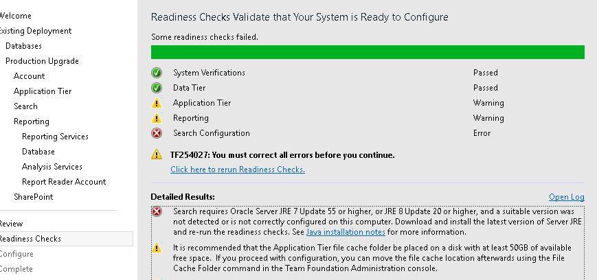 Search requires Oracle Server JRE 7 Update 55 or higher, or JRE 8