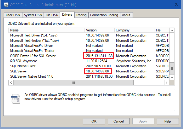 ODBC Driver 13 1 for SQL Server 16 from Windows 7 client