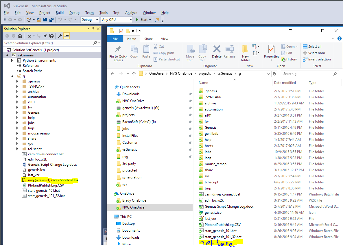 VS 2015 Folder Refresh Problem